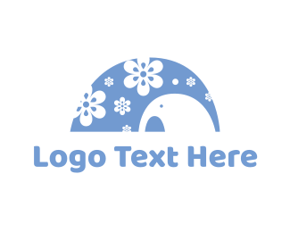 Floral - Floral Elephant logo design