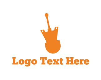 Bass - Electric Guitar logo design