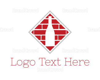 Brick - Bricks & Bottle logo design