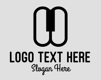 Minimal - Piano Keys logo design