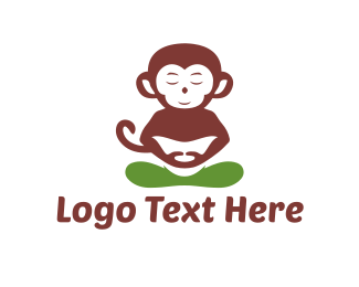 Buddhism - Zen Monkey logo design