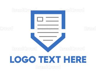 Contract - Blue Shield Document  logo design