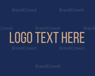 Typography - Modern San Serif logo design