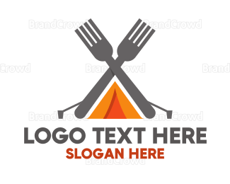 Campfire - Camping Meal logo design