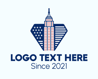 New York - Empire State Building logo design