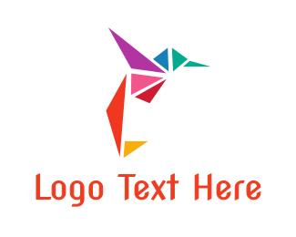 Triangle - Triangle Hummingbird logo design