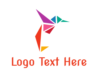 Hummingbird - Triangle Hummingbird logo design