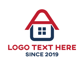 Roofing - Letter A House logo design