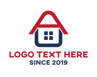Estate - Letter A House logo design