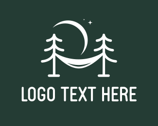 Backpacking - Pine Hammock logo design