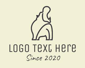 Hippo - Black Hippo logo design