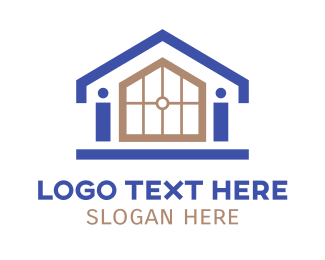 Realtor - Small House Outline logo design