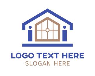 Construction - Small House Outline logo design