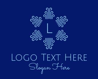 Current - Radial Breeze Lettermark logo design