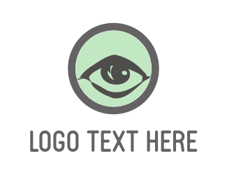 Vision - Green Eye logo design