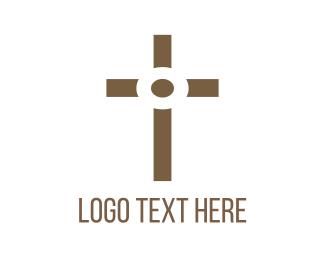 Crucifix - Christian Crucifix logo design