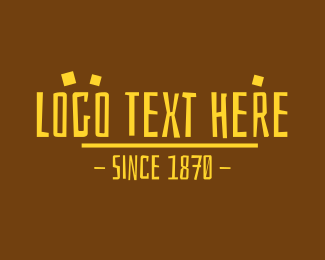 Archeologist - Yellow Prehistoric Text logo design