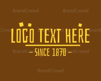 Wordmark - Prehistoric Wordmark logo design