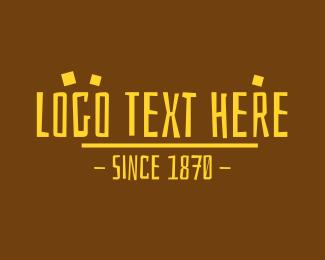 Text - Yellow Prehistoric Text logo design