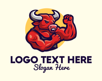 Fight - Boxing Bull Muscle Gym logo design