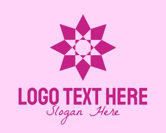 Textile Design - Pink Geometrical Star  logo design