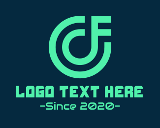 Future - C & F Monogram Gaming logo design