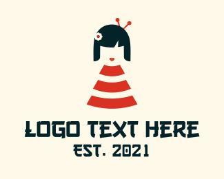 Youngster - Wifi Geisha Girl  logo design
