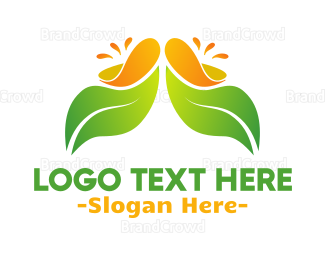 Smoothie - Juicy Leaf logo design