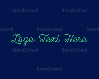 """Green Stylish Text"" by BrandCrowd"