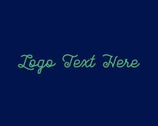 Facebook - Green Stylish Text logo design