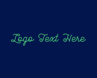 Hipster - Green Stylish Text logo design