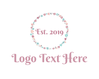 Ornamental - Floral Circle logo design