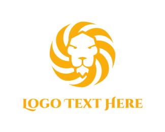 Luxury - Sun & Lion  logo design