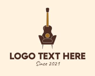 Chair - Guitar Accent Chair  logo design