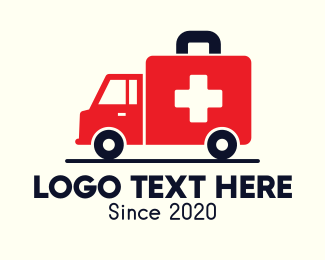 Kit - Medical Emergency Ambulance logo design