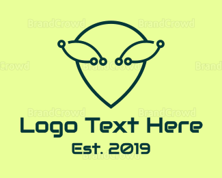 Alien - Alien Tech logo design