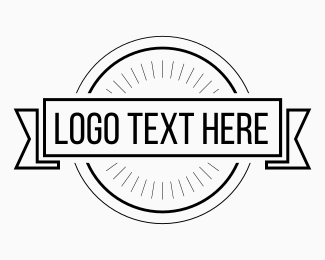 Minimal - Black & White Hipster Circle logo design