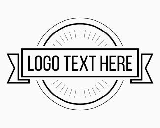 Symbols - Black & White Hipster Circle logo design