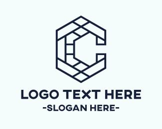 Minimalist - Letter C Mosaic logo design