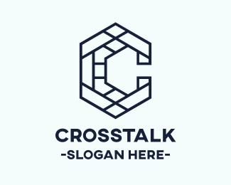 Random Letter C Mosaic logo design