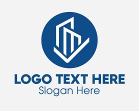 Buildings - Blue Circle Buildings logo design