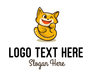 Joy - Cat Kitten logo design