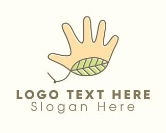 Gardener - Gardener Hand Leaf  logo design