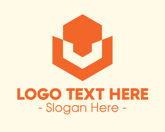 Orange Hexagon - Abstract Orange Hexagon logo design