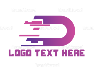 Cryptocurrency - Digital Letter D logo design