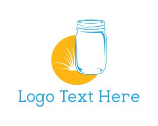 Sunny - Mason Jar logo design