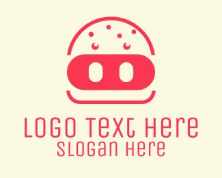 Pork - Pork Burger Restaurant logo design
