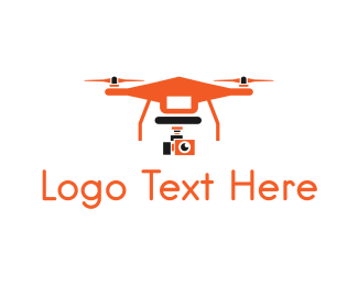 Drone - Orange Drone logo design