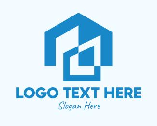 Residential - Blue Residential House logo design