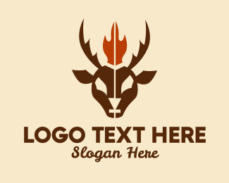Goat Milk - Flame Goat Hunting  logo design